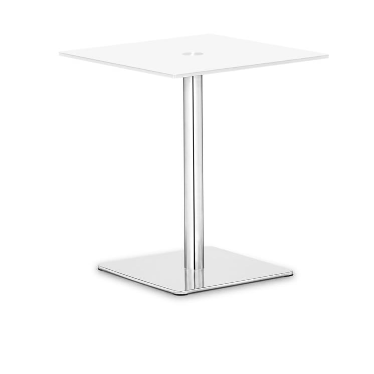 Dimensional White Pub Table