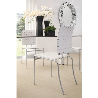 Criss Cross White Dining Chair (Set of 4)