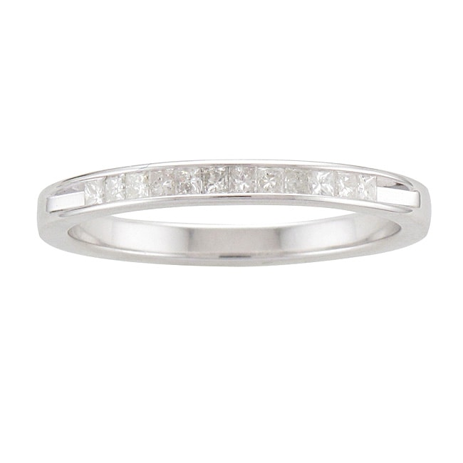 Unending Love Sterling Silver 1/5ct TDW Princess-cut Diamond Band (I-J, I2-I3)