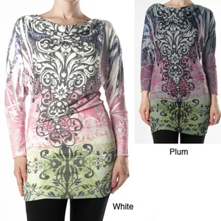 Tabeez Women's Scroll Print Knit Tunic