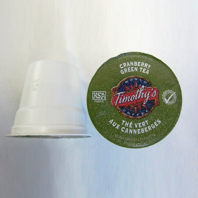 Timothy's Cranberry Twist Green Tea for Keurig Brewers (Pack of 96)