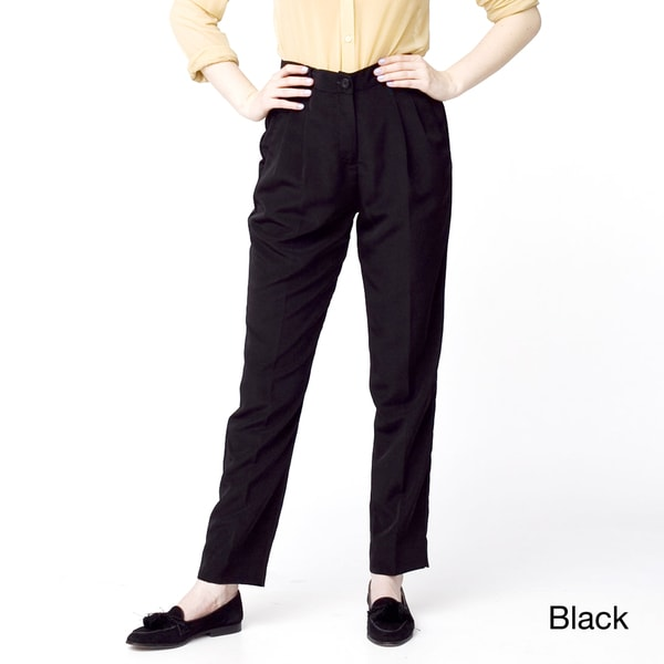American Apparel Women's Micro-poly High-Waist Pleated Pants