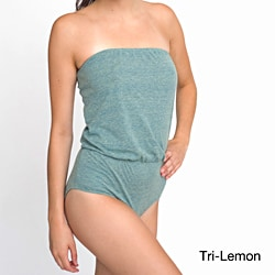 American Apparel Women's Tri-Blend High-Waist Brief Romper