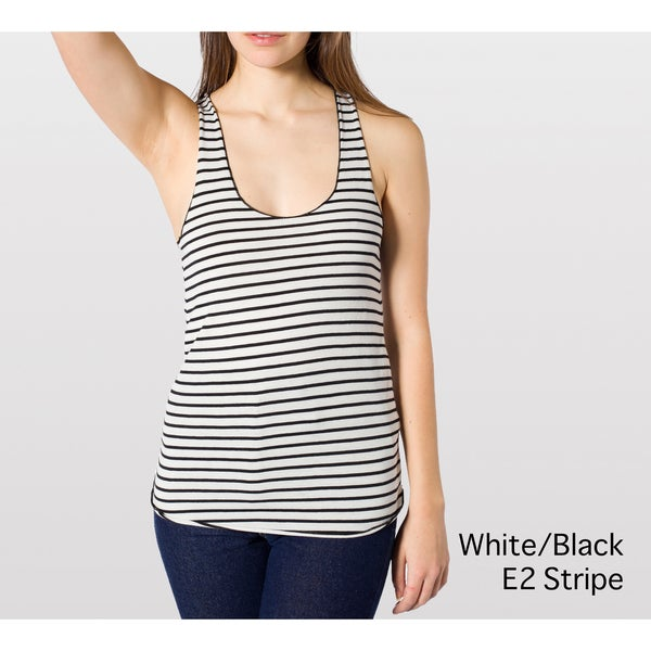 American Apparel Women's Lightweight Striped Racer Back Tank