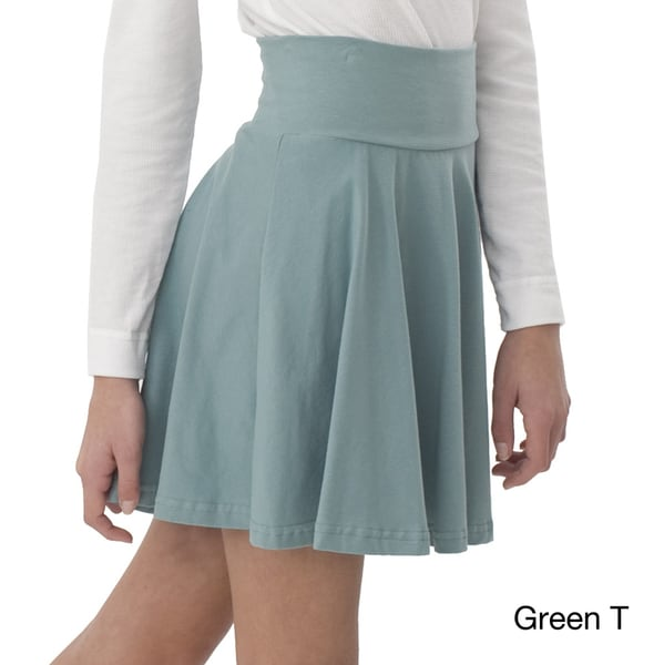 American Apparel Girl's Cotton Spandex Jersey Wide Waistband Skirt