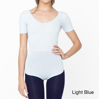 American Apparel Women's Cotton Spandex Short Sleeve T-Shirt Leotard