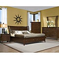 Vaughan Stanford Heights Cherry Queen Storage Bed Set (4 Pieces)