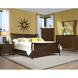 Vaughan Stanford Heights 3-piece Cherry Queen-size Sleigh Bed Set
