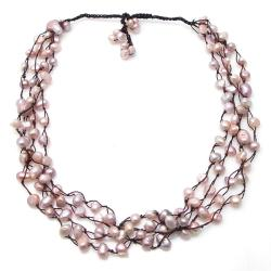 Four Strand Beauty Freshwater Pearl Necklace (Thailand)