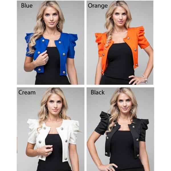 Stanzino Women's Military Cropped Blazer