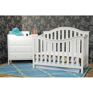 DaVinci Goodwin White 4-in-1 Convertible Crib with Toddler Rail