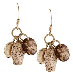 Alexa Starr Goldtone Picture Jasper Teardrop Earrings