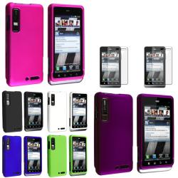 Black/ White/ Green/ Blue/ Pink Case/ Protector for Motorola Droid 3
