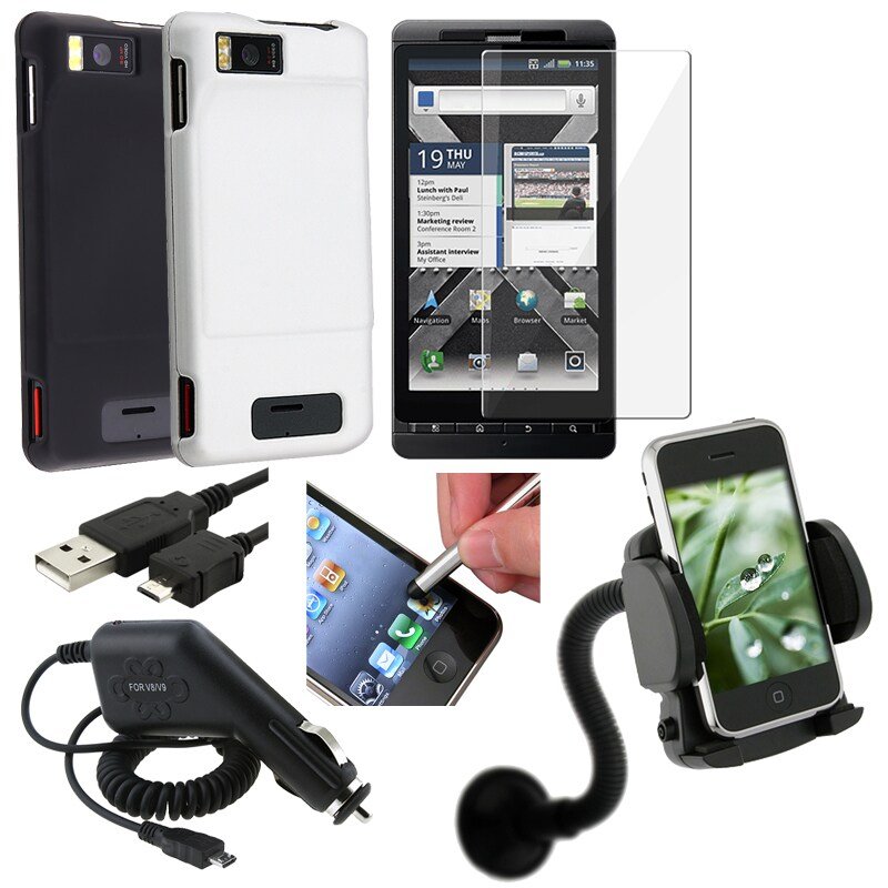 Cases/ Charger/ Protector/ Stylus/ Holder/ Cable for Motorola Droid X2/ Droid X2 Daytona