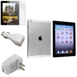 BasAcc Crystal Case/ Screen Protector/ White Chargers for Apple� iPad 3/ 4