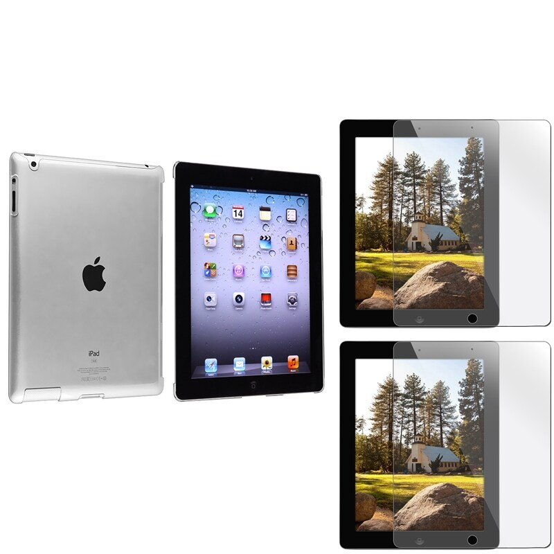 INSTEN Crystal Tablet Case Cover/ Screen Protector for Apple iPad 3/ 4