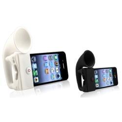 Black/ White Horn Stand Speaker for Apple® iPhone 4/ 4S