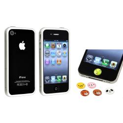 TPU Bumper Case/ Animal Home Button Sticker for Apple® iPhone 4/ 4S