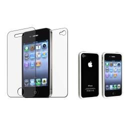 TPU Bumper Case/ Anti-glare Screen Protector for Apple� iPhone 4/ 4S