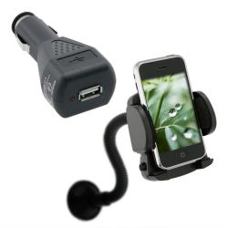 Car Charger/ Windshield Mounted Phone Holder for Apple iPhone 4/ 4S