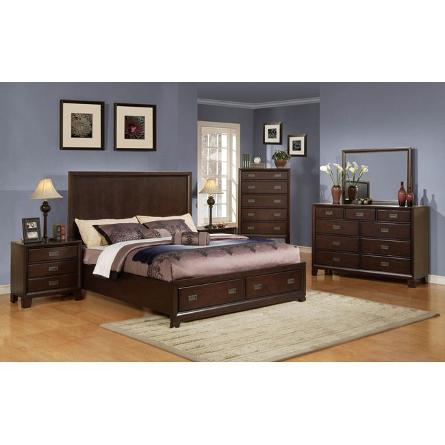 Cappucino Finish Queen Bed with Storage
