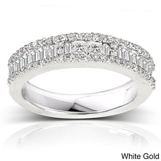 Annello 14k Gold 4/5ct TDW Baguette Diamond Band (H-I, I2)