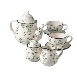 Pfaltzgraff 'Winterberry' 9-piece Tea Set
