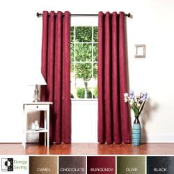 Faux Suede Grommet 95-inch Insulated Blackout Curtain Panel Pair