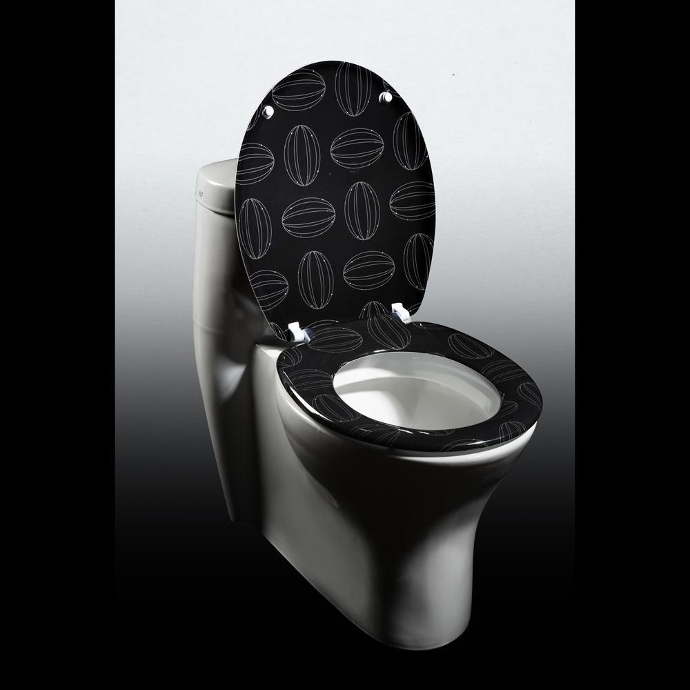 Cocoa Beans Designer Melamine Toilet Seat Cover