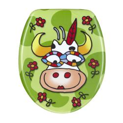 Cartoon Cow Designer Melamine Toilet Seat Cover