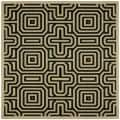 Indoor/ Outdoor Matrix Sand/ Black Rug (7'10 Square)