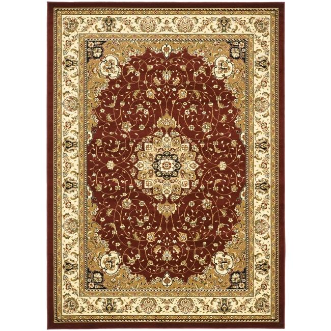 Lyndhurst Collection Red/ Ivory Rug (9 x 12)