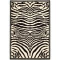 Lyndhurst Collection Zebra Black/ White Rug (8' x 11')