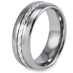 Men's Tungsten Carbide Rope Inlay Ring