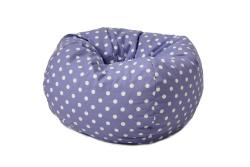 BeanSack Polka Dot Purple Bean Bag Chair