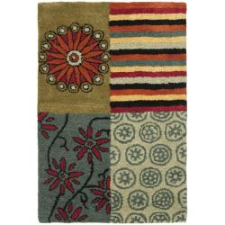Handmade Soho Patchwork Multi New Zealand Wool Rug (2' x 3')