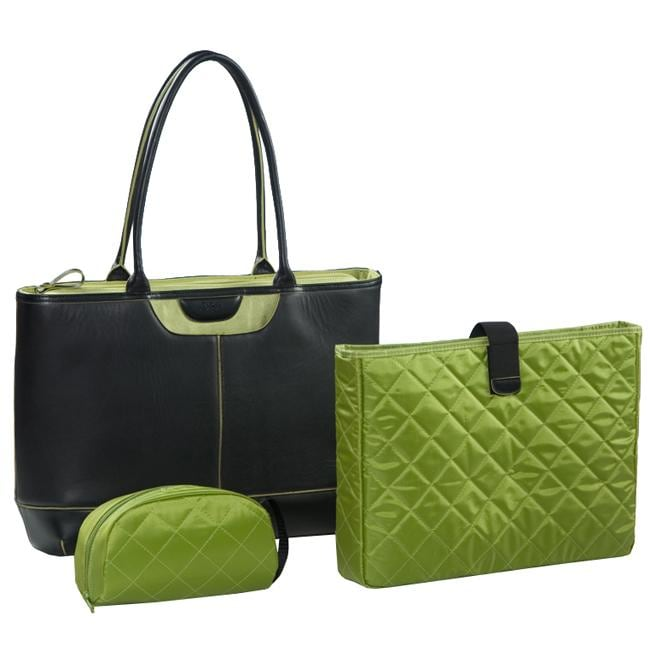 Nunzia Tuscany Women's Green 15.4-inch Laptop Tote