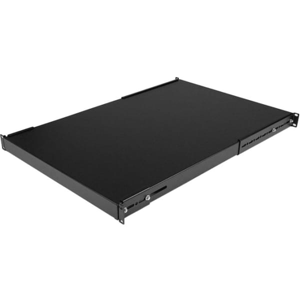 StarTech.com 1U Adjustable Depth Rack Mount Shelf - Heavy Duty Fixed