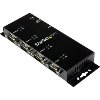 StarTech.com 4 Port USB to DB9 RS232 Serial Adapter Hub - Industrial
