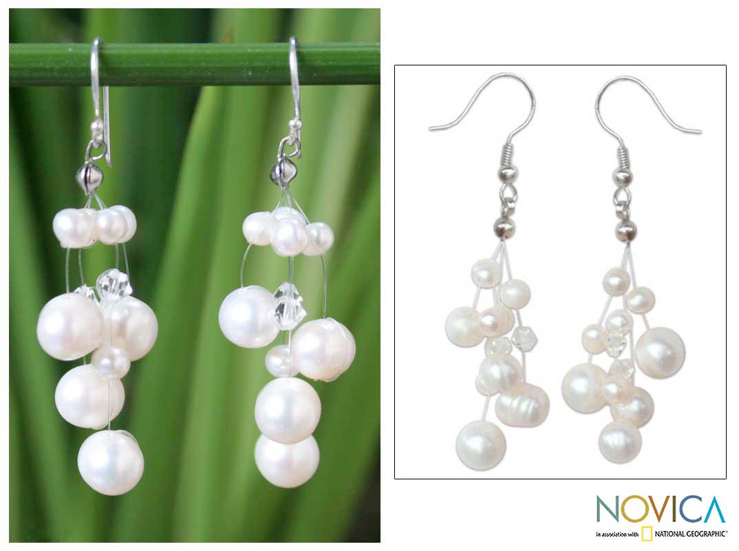 Sterling Silver 'Sugar Candy' Pearl Earrings (3.5-9.5 mm) (Thailand)