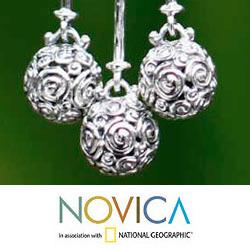 Sterling Silver 'Worlds in Balance' Earrings (Indonesia)