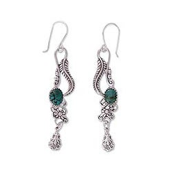 Handcrafted Sterling Silver 'Daydream' Turquoise Earrings (Mexico)
