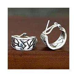 Sterling Silver 'Balinese Puzzles' Earrings (Indonesia)