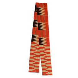 Handcrafted Cotton Blend 'Ashanti Loom' Kente Cloth Scarf (Ghana)