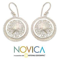 Sterling Silver 'Paradise Bloom' Earrings (Indonesia)