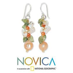 Sterling Silver 'New Love' Multi-gemstone Earrings (Thailand)
