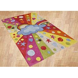 Alliyah Kids Handmade Tufted Multicolored New Zealand Blend Wool Rug (8' x 10')