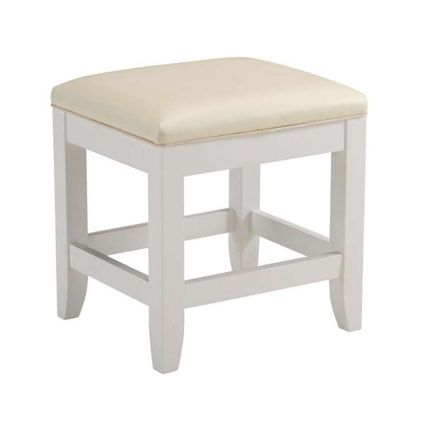 Home Styles Naples White Vanity Bench