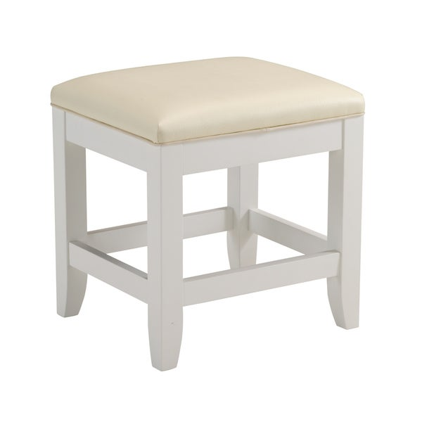 Naples White Vanity Bench