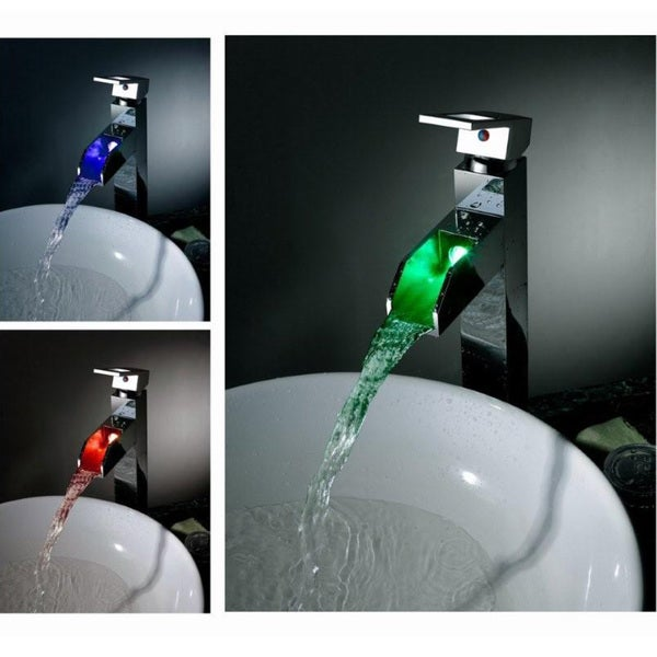 Sumerain LED Thermal Waterfall Bathroom Faucet